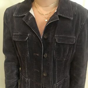 Brown Distressed corduroy Jean Jacket